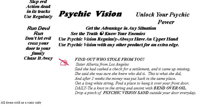 Psychic Vision, unlock your pyschic powers
