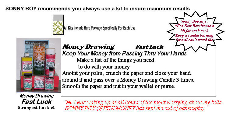 Fast Luck Money Drawing Products, Keep Your Money From Passing Thru Your Hands