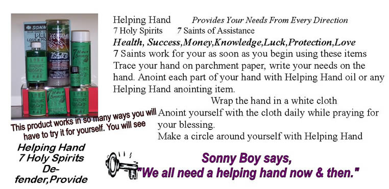 7 Holy Spirits give you Helping Hands
